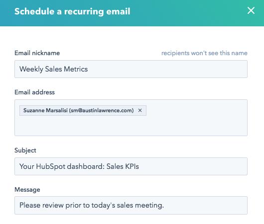 Designate reporting email recipients