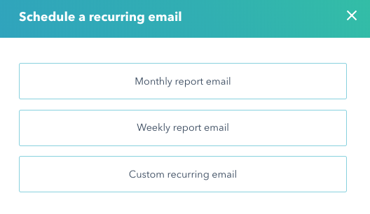 Schedule recurring reporting emails in HubSpot