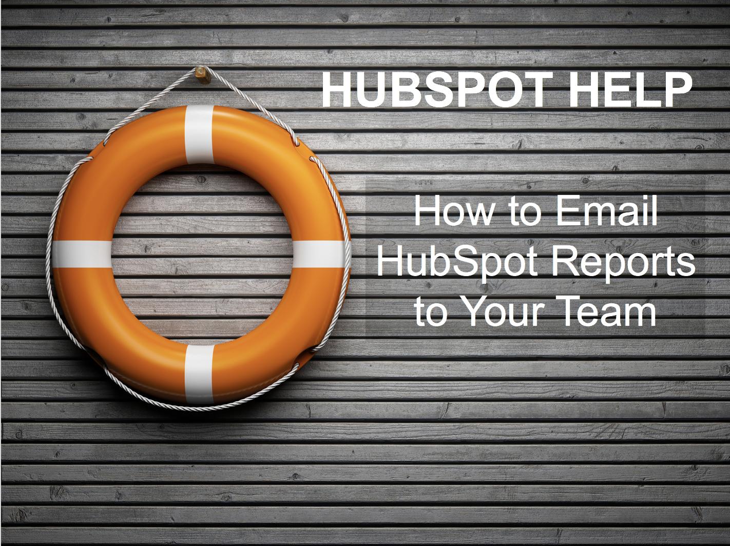 HubSpot Help Emailing Report