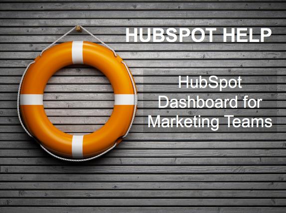 HubSpot Help Marketing Dashboard